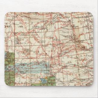 1880 Progress Map of The US Geographical Surveys Mouse Pad