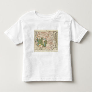1880 Progress Map of The US Geographical Surveys T-shirt