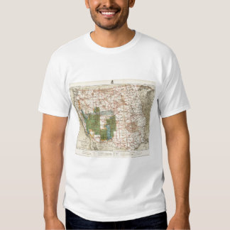 1880 Progress Map of The US Geographical Surveys Tee Shirt