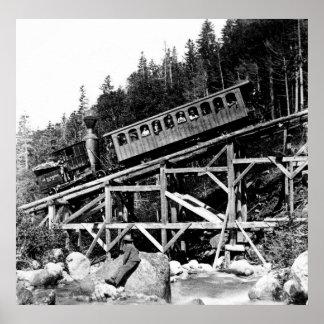 1880 Railroad Train ' Cloud ' Poster