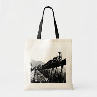 1880 Train at Crawford Notch NH Canvas Bags