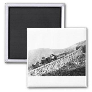 1880 trenes de pasajeros en el trabajo iman de nevera