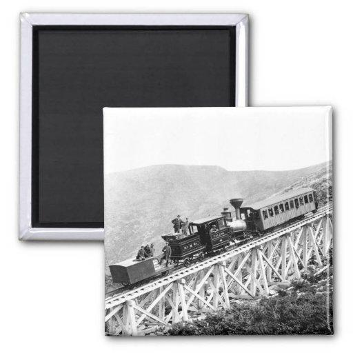 1880 trenes de pasajeros en el trabajo imán de frigorífico