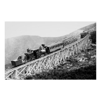 1880 trenes de pasajeros en el trabajo posters