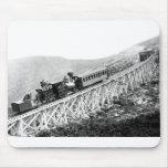 1880 trenes de pasajeros en el trabajo tapete de ratón