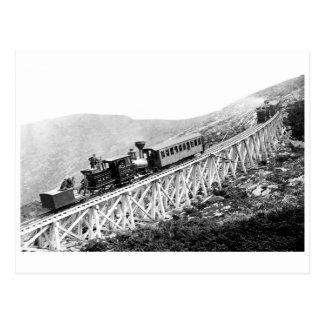 1880 trenes de pasajeros en el trabajo tarjeta postal