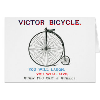 1880 Victor Bicycle Poster Card