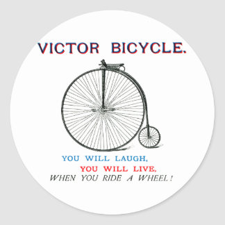 1880 Victor Bicycle Poster Classic Round Sticker