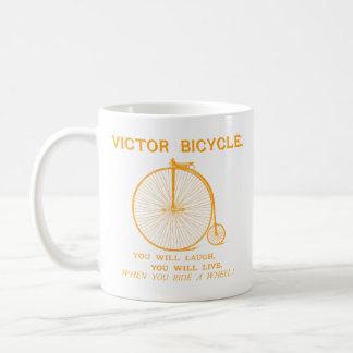 1880 Victor Bicycle Poster, orange Coffee Mugs