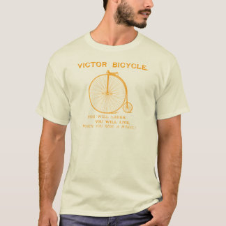 1880 Victor Bicycle Poster, orange T-Shirt