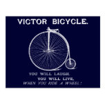 1880 Victor Bicycle Poster, White Post Card