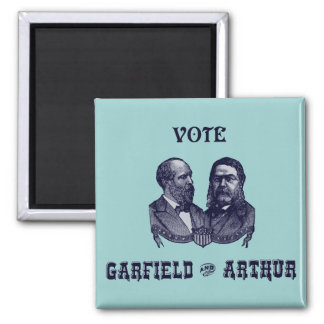 1880 Vote Garfield and Arthur, blue 2 Inch Square Magnet