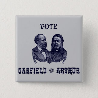 1880 Vote Garfield and Arthur, blue Button