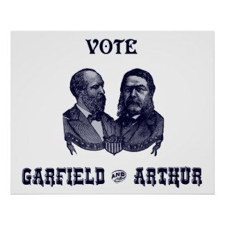 1880 Vote Garfield and Arthur, blue Poster