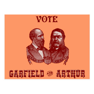 1880 Vote Garfield and Arthur, red Postcard