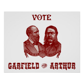 1880 Vote Garfield and Arthur, red Poster