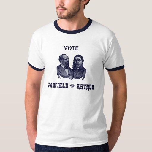 1880 voto Garfield y Arturo, azules Poleras