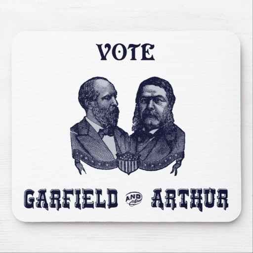 1880 voto Garfield y Arturo, azules Tapete De Ratones
