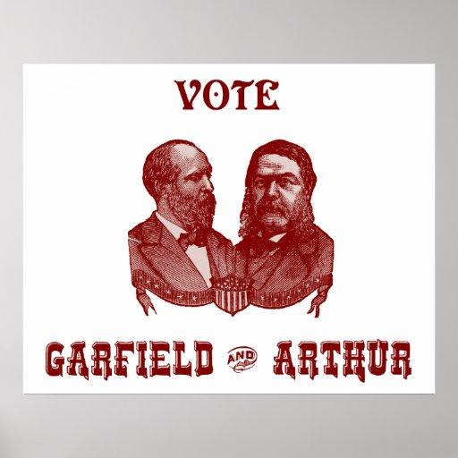 1880 voto Garfield y Arturo, rojos Impresiones