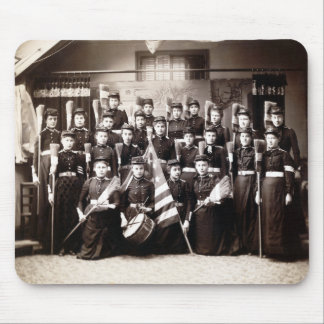 1880 Women Cadets Armed with Brooms Mouse Pads