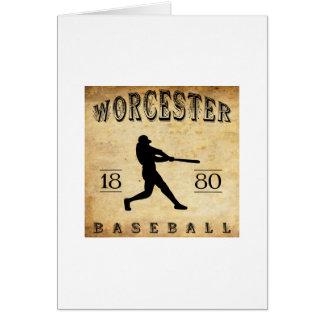 1880 Worcester Massachusetts Baseball Card