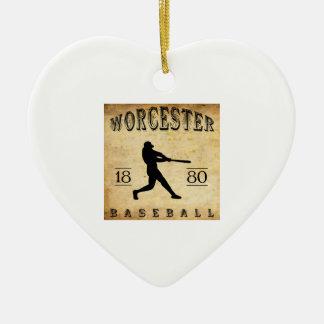 1880 Worcester Massachusetts Baseball Ceramic Ornament