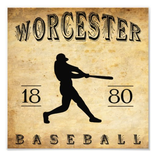 1880 Worcester Massachusetts Baseball Photo