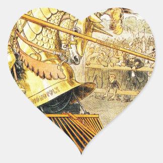 1880s A Tournament of Today Puck Graetz Heart Sticker