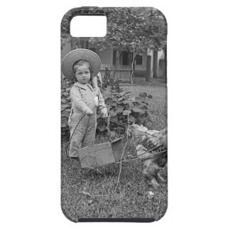 1880's Adorable Girl and Rooster Cart in Garden iPhone SE/5/5s Case