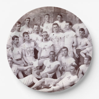 "1880's College Track Team 9"" Paper Plate"