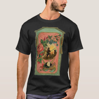 1880's Fireman Firefighter Artwork Antique T Shirt