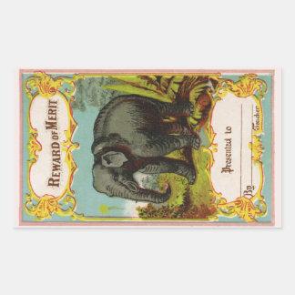 1880s Reward of Merit Elephant Sticker
