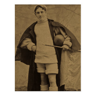 1880s Stereoview del futbolista de Yale del Postal