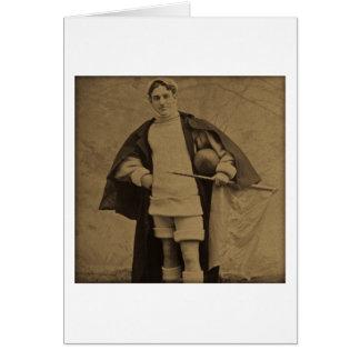 1880s Stereoview del futbolista de Yale del Tarjeta De Felicitación