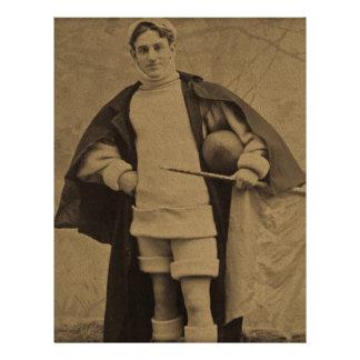 1880s Stereoview del futbolista de Yale del vintag Plantilla De Membrete