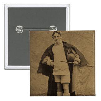 1880s Stereoview del futbolista de Yale del vintag Pin
