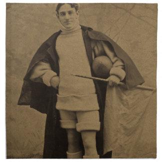 1880s Stereoview del futbolista de Yale del vintag Servilletas Imprimidas