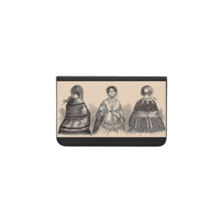 1880s Victorian shawls fashion print Business Card Holder