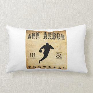 1881 Ann Arbor Michigan Football Lumbar Pillow