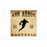 1881 Ann Arbor Michigan Football Postcard