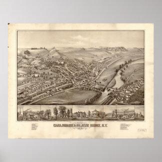 1881 Canajoharie Palatine Bridge, NY Panoramic Map Poster