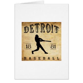1881 Detroit Michigan Baseball Card