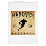 1881 Hanover New Hampshire Football Cards