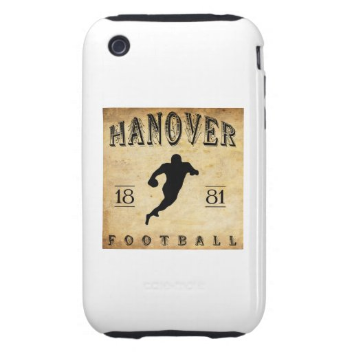 1881 Hanover New Hampshire Football iPhone 3 Tough Cases