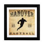 1881 Hanover New Hampshire Football Jewelry Box