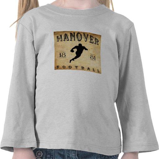 1881 Hanover New Hampshire Football Tees