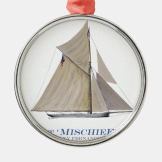 1881 Mischief Metal Ornament