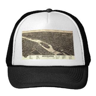 1882 Bird's Eye View Map of Aurora Illinois Trucker Hat
