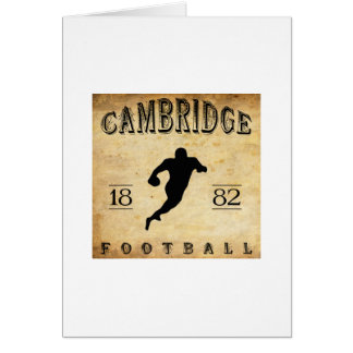 1882 Cambridge Massachusetts Football Stationery Note Card