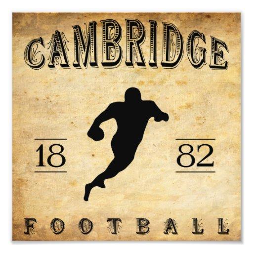 1882 Cambridge Massachusetts Football Photo Print